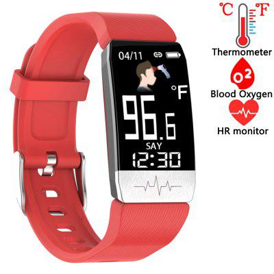 Freysite Smart Watch Fitness Tracker with Body Thermometer Heart Rate Blood Oxygen Blood Pressure Monitor Pedometer Sleep Monitor for Kids Women Men