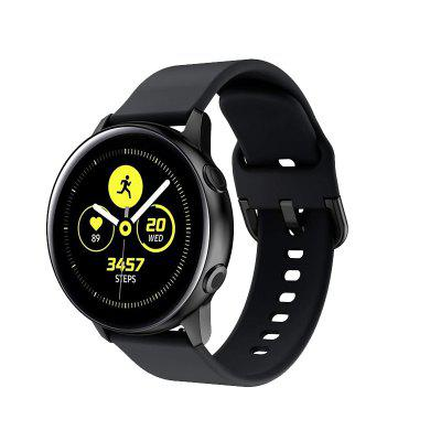Silicone Classic Buckle Wristband Strap for Samsung Galaxy Watch Active