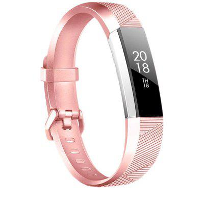 Metal Color Watch Band For Fitbit Alta HR Sport Buckle Silicone Wrist Strap