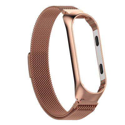 Watch Band for Xiaomi Band 3/4  Milanese Buckle Stainless Steel Wrist Strap