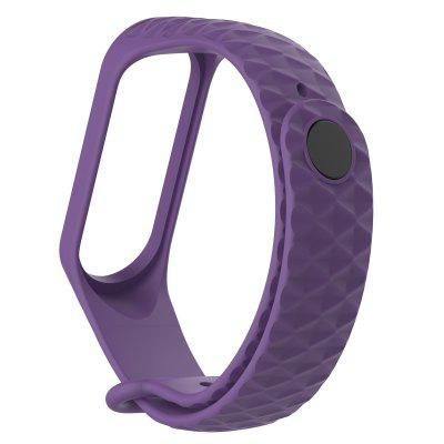 Rhombus texture Watch Band for Xiaomi Band 3 Xiaomi Sport Buckle Silicone Wrist Strap