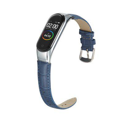 Leather Wristband Is Suitable For Mi Band 5 Strap Smart Bracelet