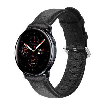 Genuine Leather Band For Samsung Galaxy Watch Active 2 40mm 44mm Smart Sport Wrist Bracelet Watchband 20mm Accessorie