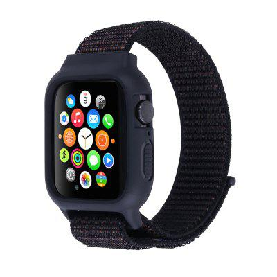 Suitable for Apple Watch Band Series 6 / SE 5/4 3/2/1 Silicone Nylon Velcro strap
