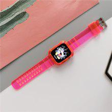 Suitable for Apple Watch Band Series 6 / SE / 5/4 3/2/1 Transparent Strap and Case integrated strap
