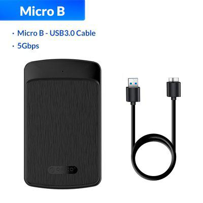 ORICO Tool Free 2.5 inch SATA to USB 3.0 Hard Drive Enclosure 5Gbps Up 4TB UASP SSD HDD Case with Auto Sleep