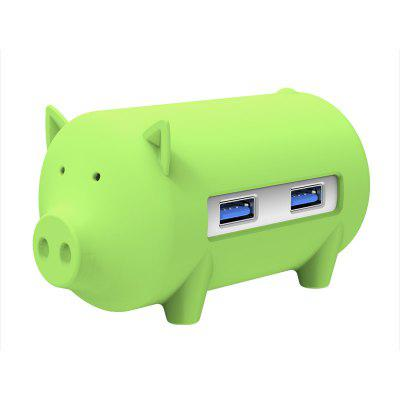 ORICO Cute Pig 4 Ports USB 3.0 OTG Hub Splitter Support TF SD Card Reader for MacBook Air Laptop PC USB3.0