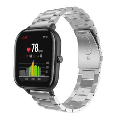 Stainless Steel Bands for Amazfit GTR42/GTS/Bip/Bip Lite/Bip S/Bip S Lite/Amazfit GTR47/Stratos/Stratos+/stratos3/Pace Strap 22/20mm