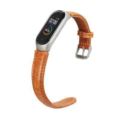 Genuine Leathers Strap for Xiaomi Mi Band 3 / mi Band 4 /Mi Band 5 Band and Protective Case
