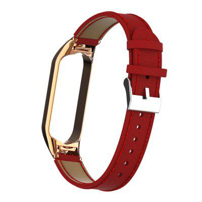 Genuine Leathers Strap for Xiaomi Mi Band 3 / mi Band 4 /Mi Band 5 Mi Bands and Protective Case