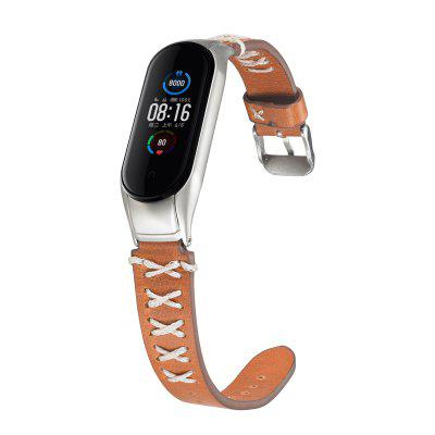 Genuine Leathers Straps for Xiaomi Mi Band 4 / mi Band 3 /Mi Band 5 Band and Protective Case