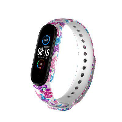 Color Printing strap for Xiaomi Mi Band 5 Silicone and Protective Case