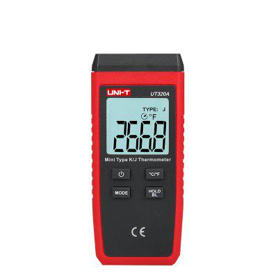 UNI-T Mini Contact Type Thermometer UT320A/UT320D K/J Thermocouple Probe Selection  With LCD Backlight Temperature Measurement