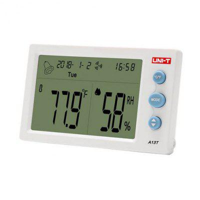 UNI-T A13T Temperature Humidity Meter  Indoor And humidity table time date week temperature display