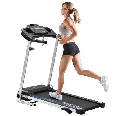 Treadmill for Home Use Foldable Electric Fitness Device with LCD Display 12 Automatic Programs and 3 Incline Levels 12km / h