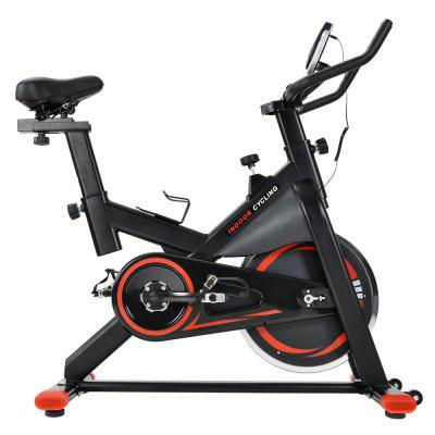 Chromed Flywheel Silent Belt Drive Indoor Cycle Bike with Leather Resistance Pad Image