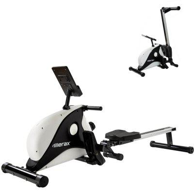 Merax Magnetic Rowing Machine Indoor Folding with Braking System LCD Monitor and 8-level Resistance Adjustment Fitness