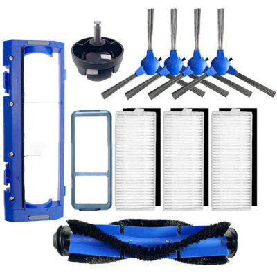 3 Filters 4 Side Brushes 1 Main Brush 1 Primary Filter 1 Rolling Brush Guard 1 Universal wheel Replacement Parts for Eufy RoboVac 11S 30 35C