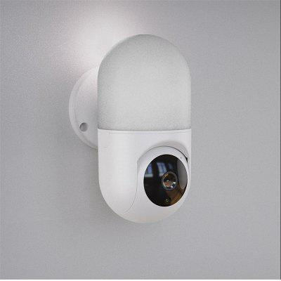 SUNSEE DIGITAL Motion detection network camera wifi with PTZ night vision wall lamp 1080p HD mini