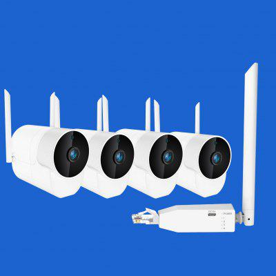 2020 Latest H.265 Wireless TF Card camera System Wifi Ip Camera Security Repeater  NVR Kit CCTV