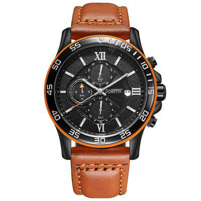 OCHSTIN Multifunctional Quartz Men Calendar Leather Sports Watch Watches