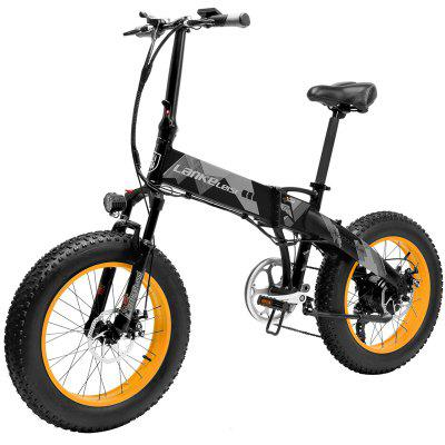 LANKELEISI X2000Plus Folding Moped Electric Bike 20Inch Fat Tires for Adults Urban Offroad Mountain 500W 48V 35KM/H with 90KM Milage Image