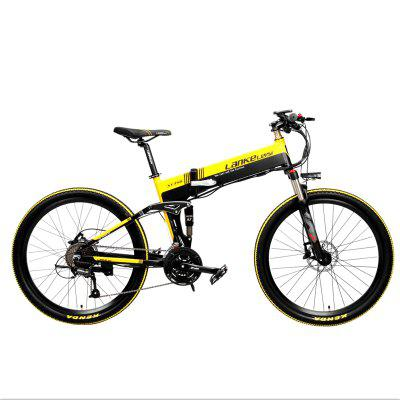 LANKELEISI XT750 Folding Moped Electric Bike 26Inch for Adults Urban Offroad Mountain 400W 48V 35KM/H with 90KM Milage Image