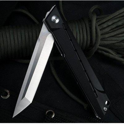 Doc-G10-D2 steel-outdoor quick opening folding knife.