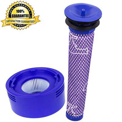 Post Motor and Pre HEPA Replacement Filter Kit for Dyson V8 V7 Animal and Absolute Cordless Handheld Vacuum Cleaners