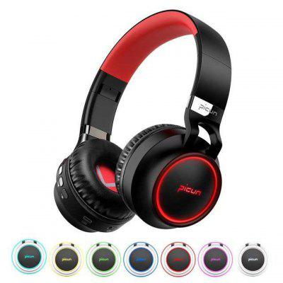 Over-Ear Fordable LED Wireless Bluetooth Bass Stereo Headphone Headset Mic/FM/TF usb game headphone t2 sound stereo gaming headphones casque 7 1 surround stereo headset with led lights gamer mic
