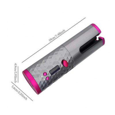 LCD Cordless Hair Curler Auto Rotating Wireless Waver Curling Iron Ceramic Save 38%