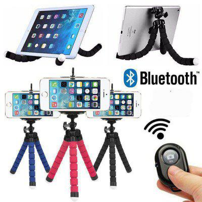 Mini Octopus Tripod Bracket Flexible Holder Mount + Remote For iPhone Camera