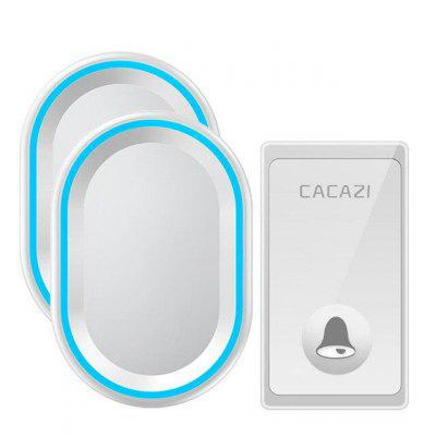 Wireless Doorbell/ CACAZI Door Bell Push Button Plug-in Receiver Operating at 1000 Ft