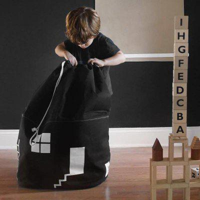 Canvas House Storage Bags Drawstring Bag Tidy The Room for Toys