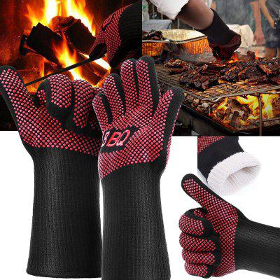 Heat Proof Resistant Oven BBQ Gloves 35cm Kitchen Cooking Silicone Mitt