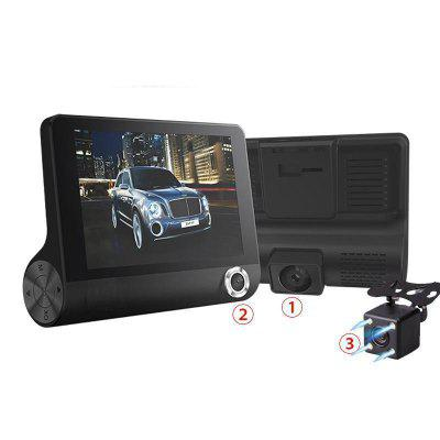 Car DVR 3 Cameras Lens 4.0 Inch Dash Camera Dual Lens With Rear view Image