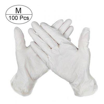 100 PCS Disposable Gloves Latex Universal For Left and Right Hand