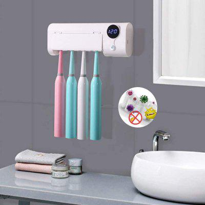 Smart Induction UV Toothbrush Sanitizer Bathroom Holder Wall Mounted with Sterilizer Function 1500Mah Charging