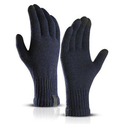 1 Pair Men Women Touch Screen Gloves Winter Warm Fleece Lined Thermal Knitted Black Hot nuckily outdoor cycling windproof warm fleece face mask red black