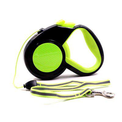 Orange Green Reflective Retractable Dog Leash For Small Dogs Large