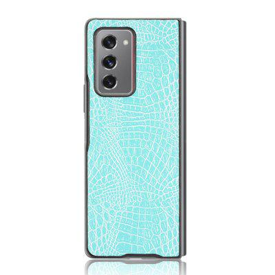 Crocodile Pattern PU Leather Case Back Cover for Samsung Galaxy Z Fold2 5G