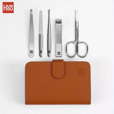 NEW Xiaomi Mijia Huohou Manicure Nail Clippers Nose  Hair Trimmer Stainless Steel Cutter Tool Set 5PCS- China