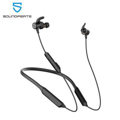 SOUNDPEATS Force Pro Dual Dynamic Drivers Bluetooth Headphones Neckband Wireless Earbuds with Crossover APTX HD Audio Built in Mic 22 Hours Playtime