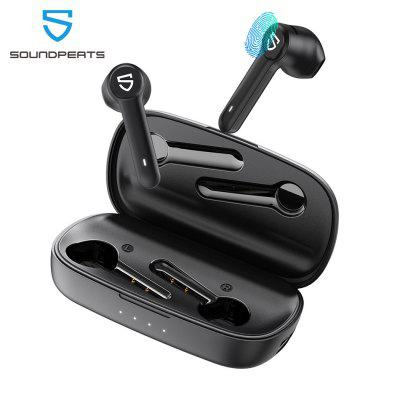 SOUNDPEATS Truebuds True Wireless Earbuds Semi-in-Ear TWS Stereo Bluetooth Earphones Touch Control Bluetooth Headphones with Mic 2600mAH Charging Case