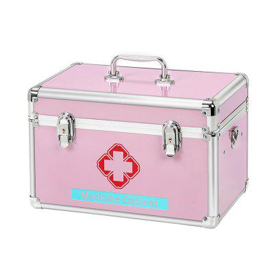 Youngshion Portable Cross Shoulder First Aid Box Emergency Medicine Storage Kit with Child Safe Lock for Home Travel Workplace