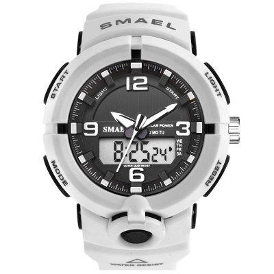 SMAEL  Luxury Brand Watch Men Military Watches Sport Quartz Wristwatches Male Big Led 8017 Water Resistant
