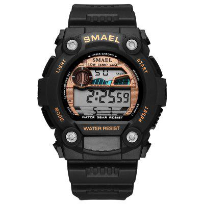 SMAEL automatic sport men watch top Brand Luxury 50m waterproof digital wristwatches for male 1423Led Casual Watch