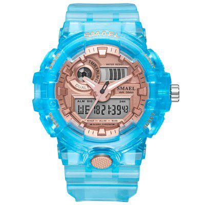 2020 NEW SMAEL Women and Men Watches Sport Watch Clock Couple Digital Wrist 8023 Waterproof erkek saat LED Gift