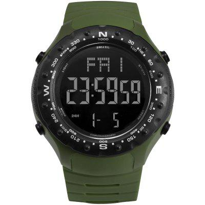 Sport Watch for Men 5Bar Waterproof SMAEL S Shock Resist Cool Big Watches Military 1342 LED Digital Wrsitwatches