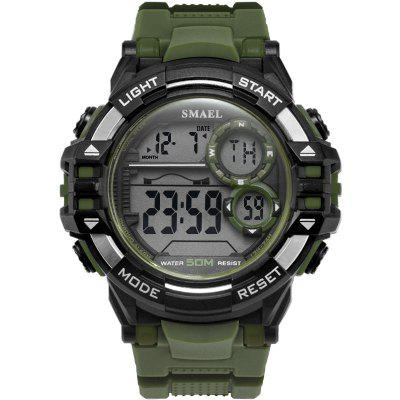 Digital Wrsitwatches Sports Outdoor SMAEL New Watches Black Men Watch Automatic Fashion Clock 1515 Waterproof Sport LED